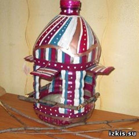 Как сделать из пластмассовой бутылки кормушку