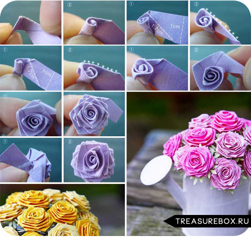 Как сделать из материала красивые цветы