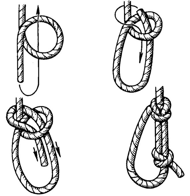 Схема вязания узлов булинь 158