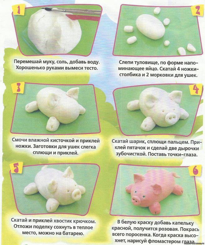 Игрушки из теста своими руками рецепт