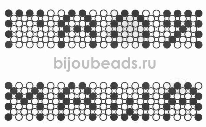 Браслеты из бисера с именами схем