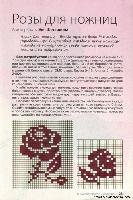 Схемы вышивки маячков для ножниц 753