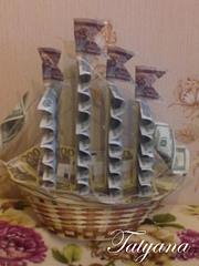 Парусник из денег своими руками пошаговое фото 77