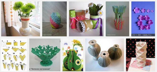 Как сделать вазу своими руками легко 68