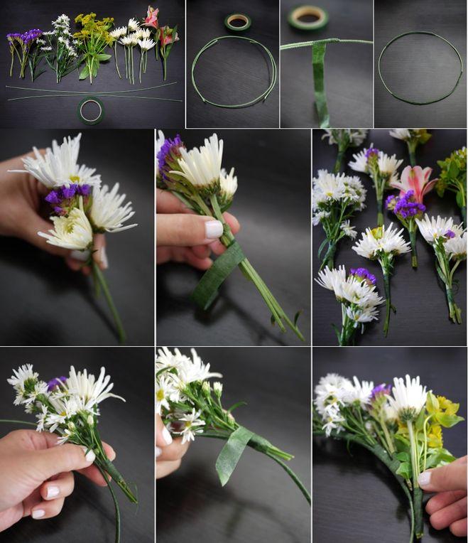 Венок своими руками из цветов живых своими руками