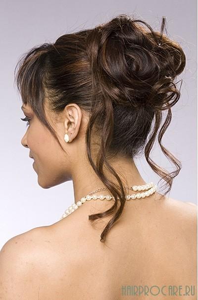 Красивые прически на средние волосы шишки