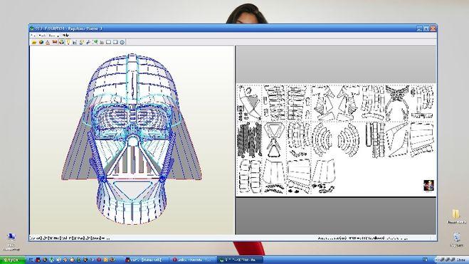 схема шлема дарта вейдера из бумаги