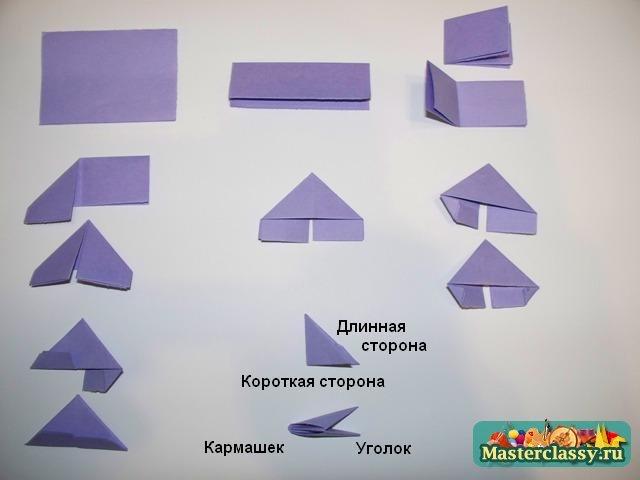Поделки из модульного оригами схемы 2