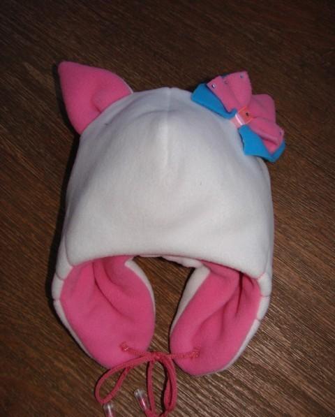 Своими руками шапка для девочки из флиса 39