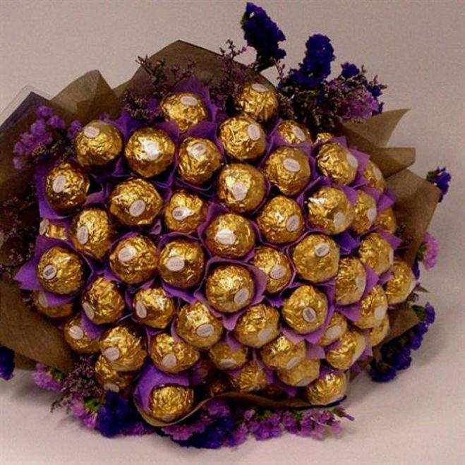 Оригинальный букет своими руками из конфет