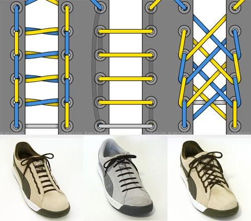 Схема завязывания шнурков