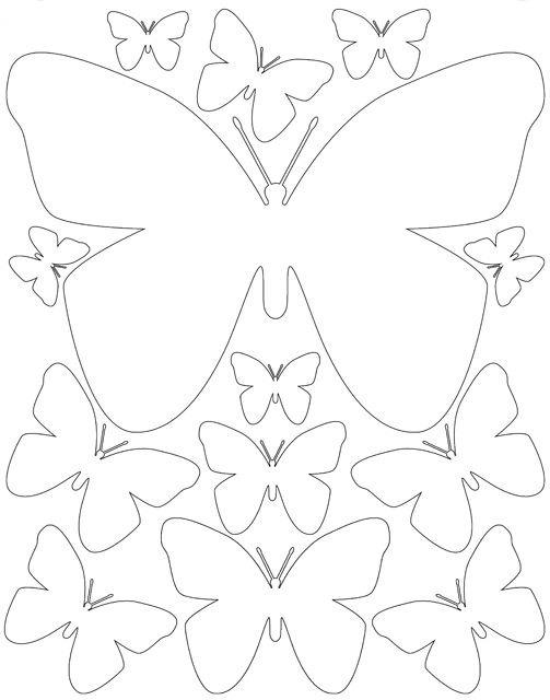 Трафарет бабочки для декора своими руками