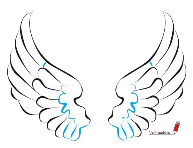 Ангельские крылья рисуем