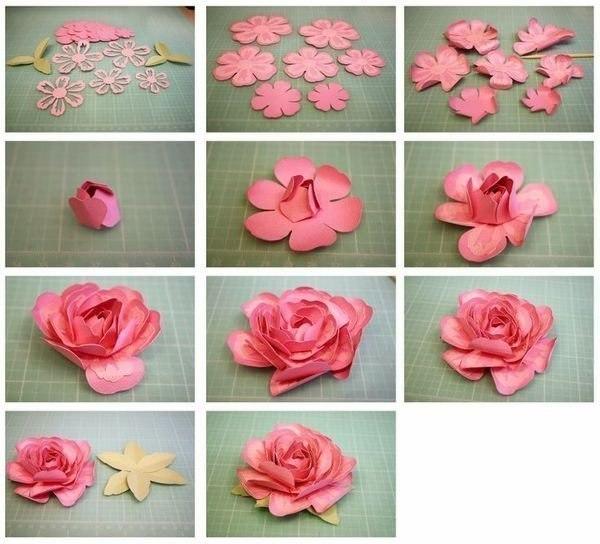 Бумажные цветы своими руками поэтапно