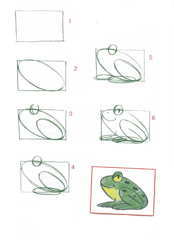 Как нарисовать царевну лягушку поэтапно
