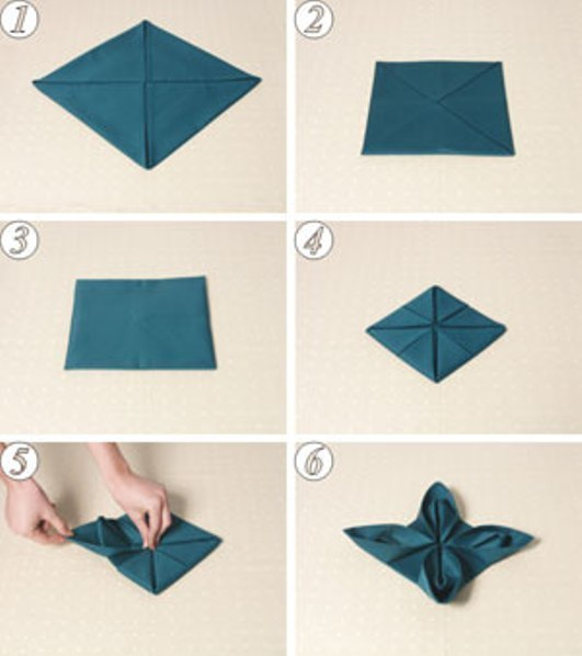 Как сделать красиво салфетки на праздничный стол
