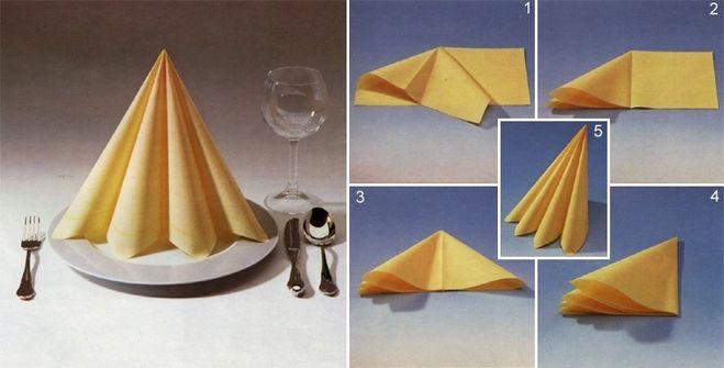 Салфетки бумажные стола своими руками