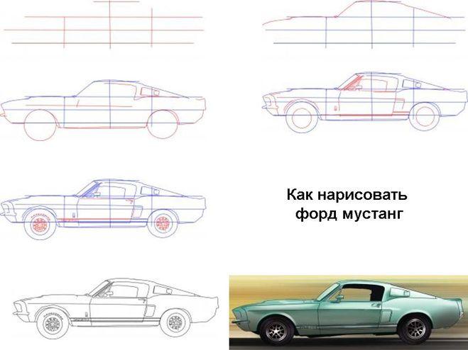 Машины нарисованы своими руками 3
