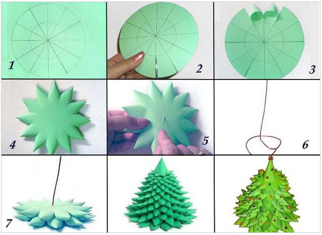 Как сделать ёлку из бумаги своими руками
