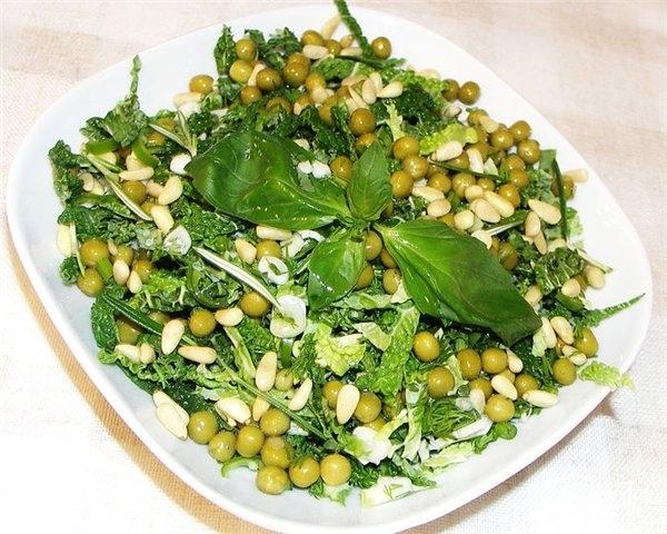 Рецепты с салаты с горошком