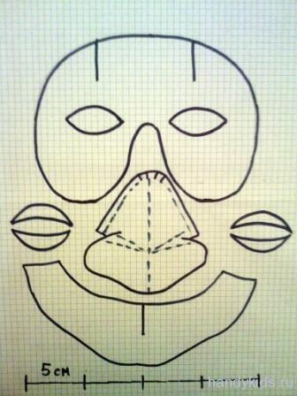 Как сделать  нос для бабы яги  из бумаги