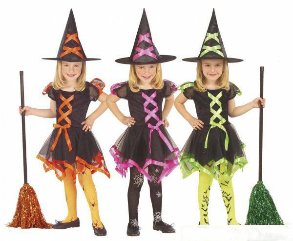 Карнавальный костюм для девочки ведьмочка