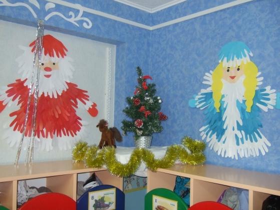 Оформление группы детского сада  к новому году