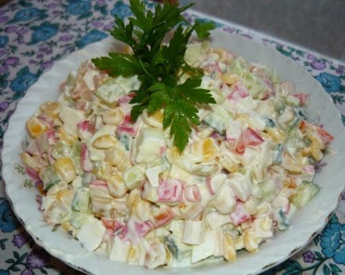 Рецепт приготовления салат крабовый