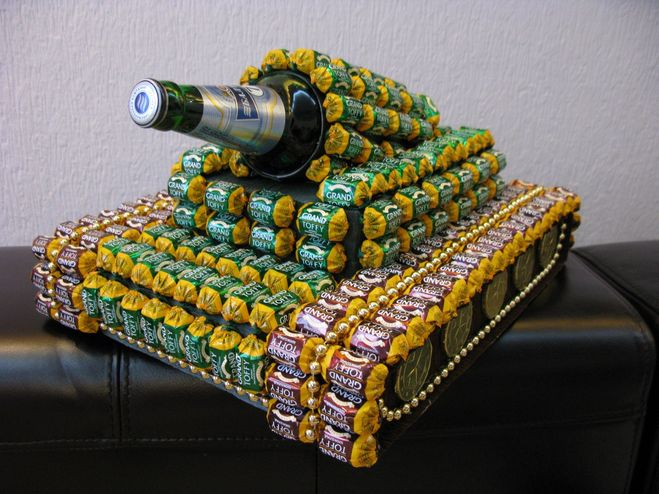 Сделать танк из пива