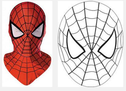 Маска человека паука сделать своими руками 774