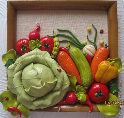 Поделки овощи и фрукты из солёного теста 632