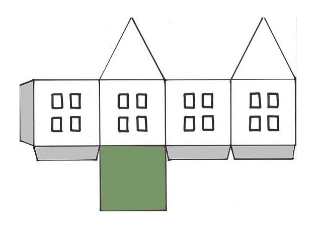Как сделать домик из бумаги простые