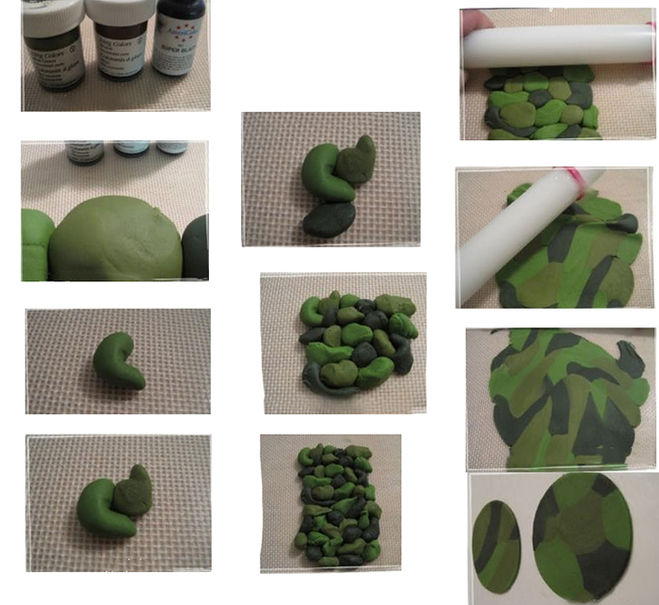 Как сделать из мастики цвет хаки