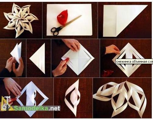 Как сделать снежинку из бумаги своими руками фото и схемами