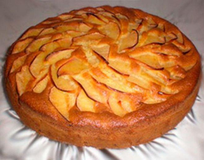 Яблочный пирог открытый рецепт с фото