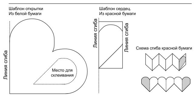 Схема валентинок своими руками