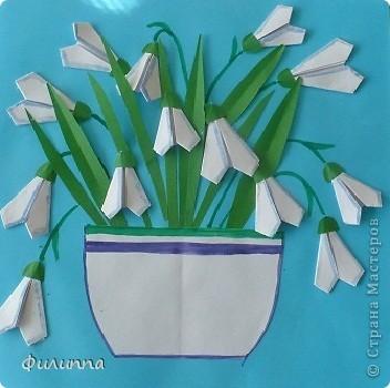 Оригами подснежники своими руками 31