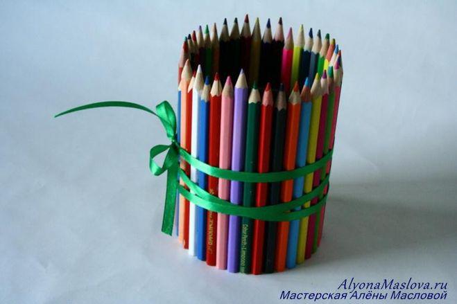 Как сделать держателей карандашей 689