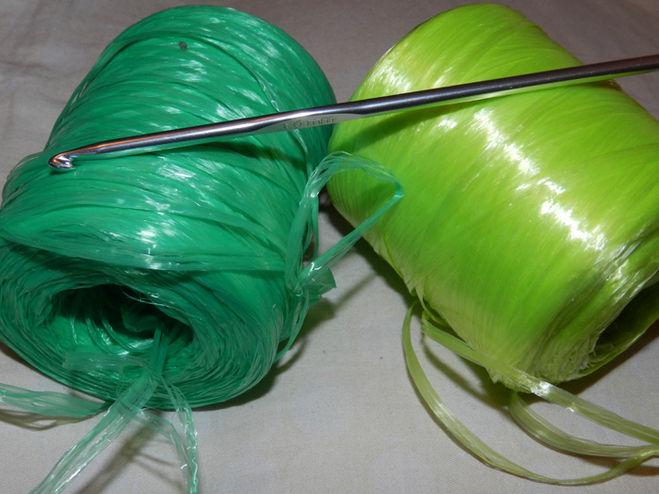 Пряжа для вязания мочалок 3