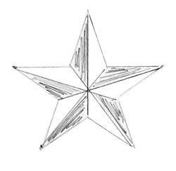114Как нарисовать звезд карандашом поэтапно