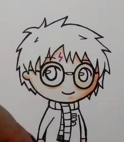 Как нарисовать гарри поттер поэтапно 80
