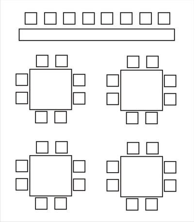 Схема расстановки столов в доу