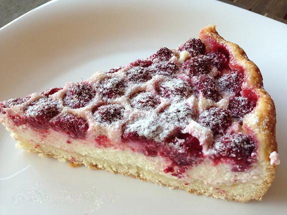 Открытый пирог с малиной рецепт пошагово