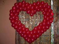 Сердца из шаров без каркаса своими руками 972