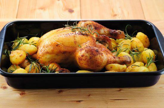 Як запекти курку в духовці рецепт з
