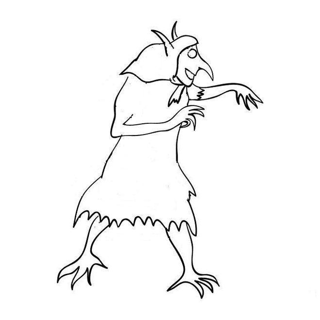 рисунок кикиморы для 5 класса по музыке раскраска