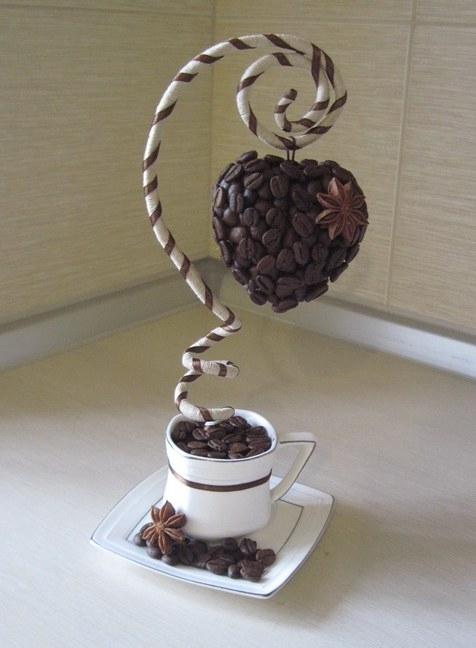 Как сделать кофейное дерево с кофейными зернами мастер класс