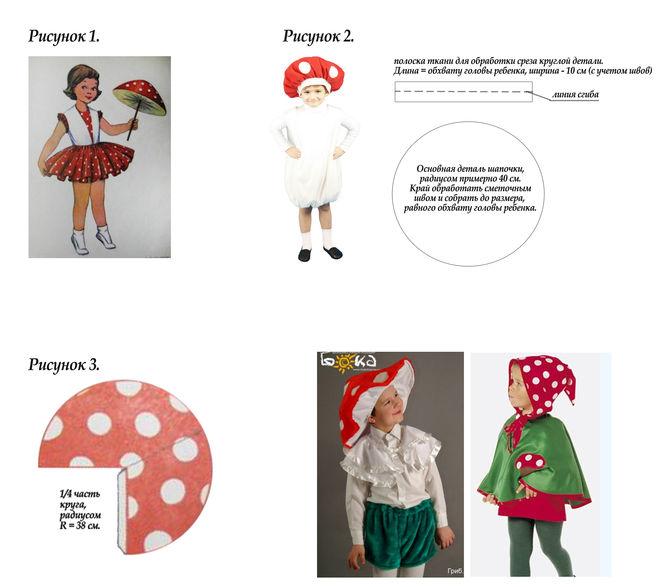 Выкройка костюма гриба своими руками 24